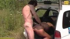 Cute ebony milf public fucked by taxi driver Thumb