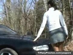 Outdoor strip tease with Tiffany Preston Thumb