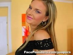 Blond Czech girl with big tits deep throats... Thumb