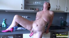 OldNannY Hairy Mature Pussy Pissing and Toying Thumb