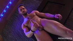 Naughty dudes stimulates restrained skinny body Thumb