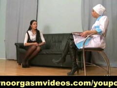Business lady's vagina examined till orgasm Thumb