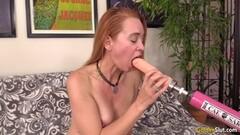 Hot Older Babe Climaxes Using Dildo Machine Thumb