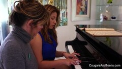 Hottie has her yearning pussy pleased by her piano teacher Thumb