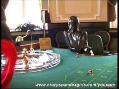 Crazy spandex babes in casino (clip) Thumb
