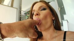 Sperm facial end for Evelyn Foxy on Cum For Cover Thumb
