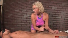 Sizzling blonde devours this stiff cock Thumb