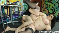 Alex Harper takes sloppy double BBC Creampie & Cumfart Thumb