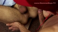 Stunning horny wife Nikki Sexxx gives handjob and sucks cock of hubby Thumb