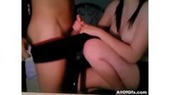Jacuzzi 3-Way Lesbian Encounter Thumb