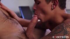 PhoneBJ Huge Tits Big Cock Sucked Dry Thumb