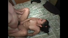 Asian massages penis with her butt Thumb