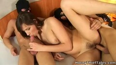 Horny Blonde Milf Wife With Big Fake Tits Gives Head To Husbands Friends Thumb