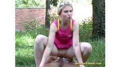 Big boobs meets two cocks Thumb
