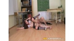 PORNSTARPLATINUM Mindi And Sinful Elissa Lesbian Love Thumb