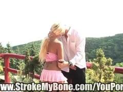 hot blonde strokes dick Thumb