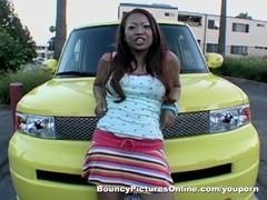 Asian Car model smoke and has enjoys big dick Thumb