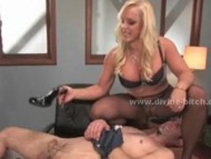 Blonde divine bitch teaching male sex slave pain in bdsm female d Thumb