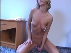 Blondie's friends dildo her all day Thumb