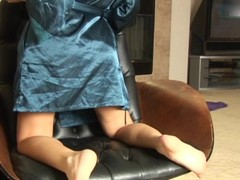 Maddie on her knees wiggling & pumping at the camera Thumb