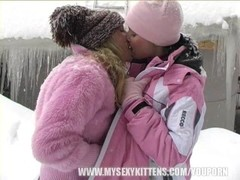 Young lesbian girls licking pussy in the snow Thumb
