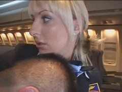 Sexy Stewardess Gives Handjob Thumb