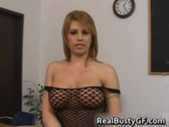 Busty slut in fishnets blowjob part1 Thumb