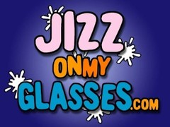 Black Jizz on her Glasses Delilah Strong Facial Thumb