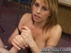 Busty slut in fishnets blowjob part3 Thumb