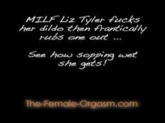 MILF Fucks Dildo then rubs one out - very juicy! Thumb
