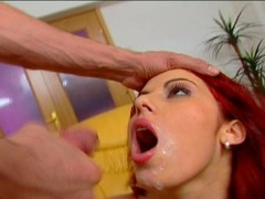 Redhead Takes a Double Load Thumb