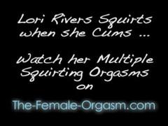 Lori Rivers fucks her dildo to squirting orgasms Thumb