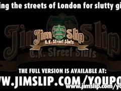 Young girl has to fuck good old Jim Slip Thumb
