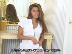 Charmane Starr white lingerie Thumb