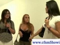Cfnm females jerk off cock in public Thumb