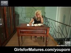 Lesbian maid seduces her MILF mistress Thumb