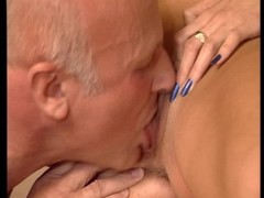 Flat chested girl brings older man to an orgasm Thumb