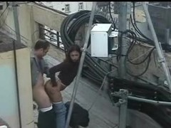 Bulgarian Couple Fucking on the rooftop Thumb