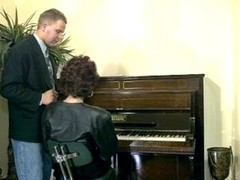 Kinky mature piano lesson Thumb