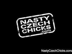 Busty Cindy Dollar car back seat masturbation Thumb