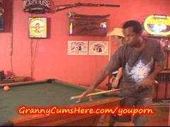 Granny gets GANG BANGED at POOLHALL Thumb