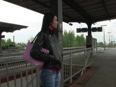 Horny girl picked up at train station Thumb