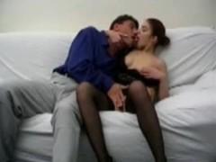 Brunette analfucked in stockings Thumb