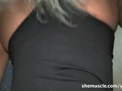 Ashlee and Milinda - Muscle Gloryhole Thumb