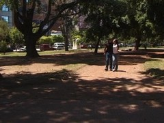 Latin couple solicited in the park Thumb