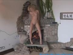 hot dancing near fireplace Thumb