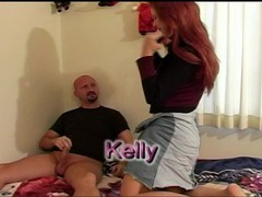 Lovely redhead Kelly gets a surprise creampie Thumb