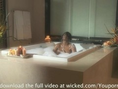 JADA FIRE RIDES BIG COCK IN THE TUB Thumb