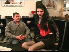 Horny voyeur in the tattoo parlor - DBM Video Thumb