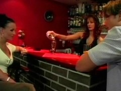 Busty brunette fucking inside the bar Thumb